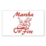Marsha On Fire Sticker (Rectangle)