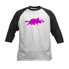 Girls Like Dinosaurs Too - Triceratops Tee