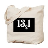 13.1 female runner Tote Bag
