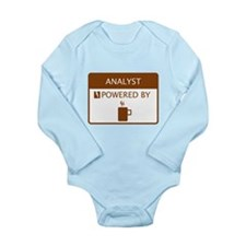 Analyst Powered by Coffee Long Sleeve Infant Bodys