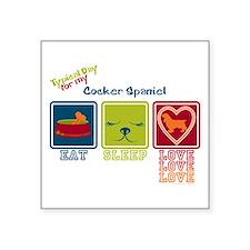 """Cocker Spaniel Square Sticker 3"""" x 3"""""""
