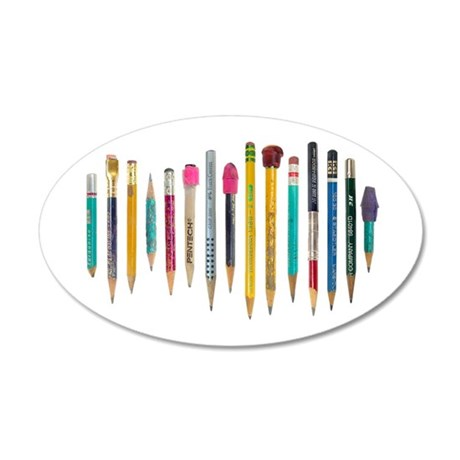 Old Favorite Pencils 35x21 Oval Wall Decal