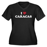 I Love Caracas Women's Plus Size V-Neck Dark T-Shi