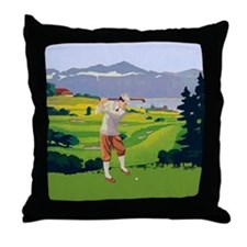 Vintage Style golf Highlands Golfing Scene Throw P