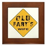Ols Fart's Wife Framed Tile