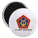 U.S Army Field Band with Text Magnet