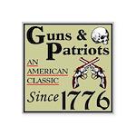 """""""Guns & Patriots"""" Square Sticker 3&q"""