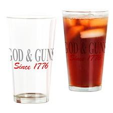 GOD and GUNS Drinking Glass