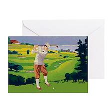 Vintage Golf Style Highlands Golfing Scene Greetin