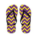 Purple and Gold Chevrons Flip Flops