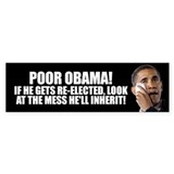 Poor Obama Bumper Sticker