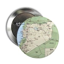 "Syria Iraq Turkey Jordan map 2.25"" Button"