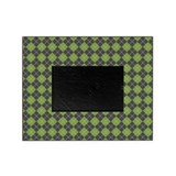 Argyle Green Picture Frame