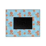 Tropical Flower Waves Blue Picture Frame