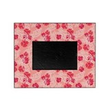 Tropical Flower Waves Pink Picture Frame
