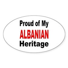 Proud Albanian Heritage Oval Decal