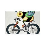 Bee on a Bike Rectangle Magnet