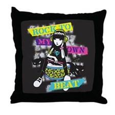 Rock To My Own Beat Throw Pillow