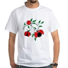 Delicate Ladybugs on Graceful Leaves Shirt