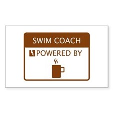 Swim Coach Powered by Coffee Decal