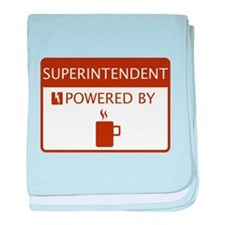 Superintendent Powered by Coffee baby blanket