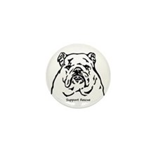 Bulldog Support Rescue Mini Button