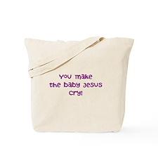 jesus crying Tote Bag
