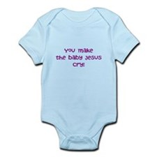 jesus crying Infant Bodysuit