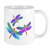 Dive Bombing Iridescent Dragonflies Small Mugs