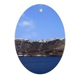 Santorini City Oval Ornament