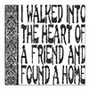 "HEART OF A FRIEND Square Car Magnet 3"" x 3"""