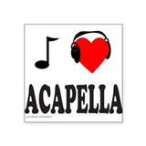 "ACAPPELLA Square Sticker 3"" x 3"""