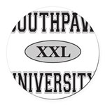SOUTHPAW UNIVERSITY Round Car Magnet