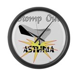 ASTHMA AWARENESS Large Wall Clock