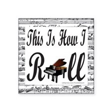 "PIANO/PIANIST Square Sticker 3"" x 3"""