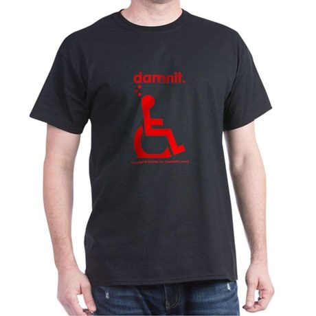 damnit.wheelchair Black/Red T-Shirt