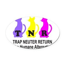 TRAP NEUTER RETURN Oval Car Magnet