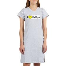 MichiganCapBumperSticker.png Women's Nightshirt