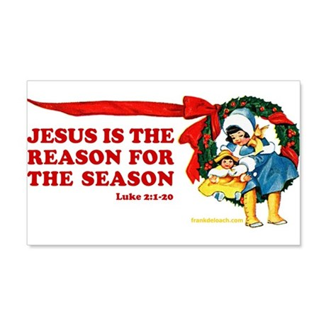 JESUS IS THE REASON 20x12 Wall Decal