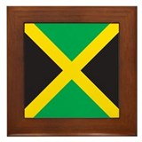 Jamaica flag Framed Tiles