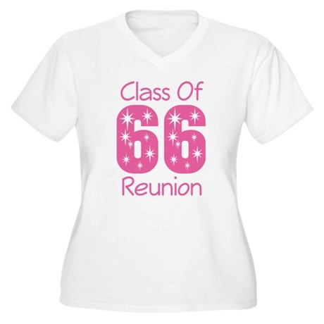 Class of 1966 Reunion Women's Plus Size V-Neck T-S