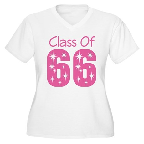 Class of 1966 Women's Plus Size V-Neck T-Shirt