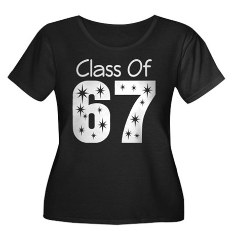 Class of 1967 Women's Plus Size Scoop Neck Dark T-