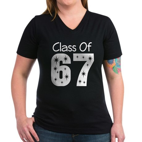 Class of 1967 Women's V-Neck Dark T-Shirt