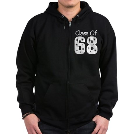 Class of 1968 Zip Hoodie (dark)