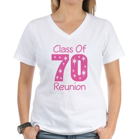 Class of 1970 Reunion Women's V-Neck T-Shirt