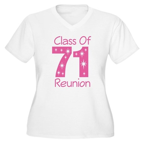 Class of 1971 Reunion Women's Plus Size V-Neck T-S