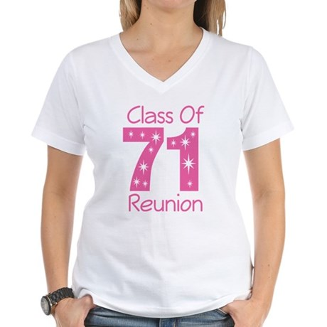 Class of 1971 Reunion Women's V-Neck T-Shirt