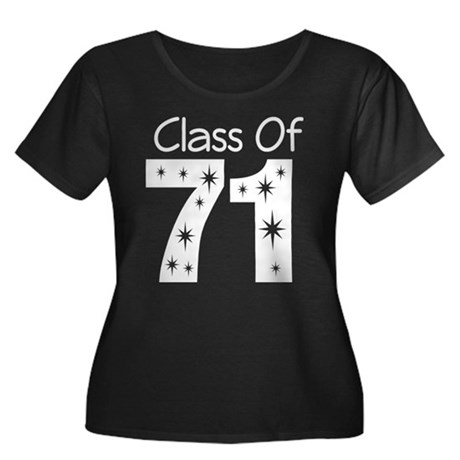 Class of 1971 Women's Plus Size Scoop Neck Dark T-