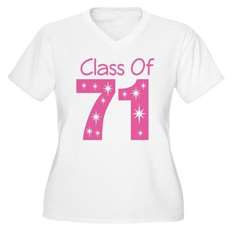 Class of 1971 Women's Plus Size V-Neck T-Shirt